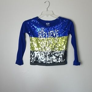 Justice size 8 Long sleeve girls top